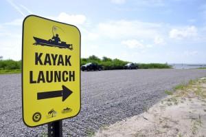 kayak launch sign